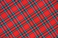 Royal Stewart tartan Stock Image