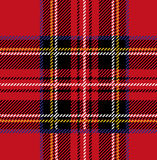 Royal Stewart Tartan Plaid Royalty Free Stock Photography