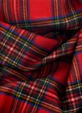 Royal Stewart Tartan. A soft woolen plaid with Royal Stewart Tartan Royalty Free Stock Photography