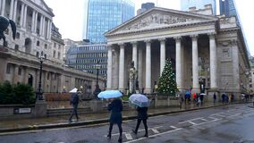 Royal stock exchange in the city of London - LONDON, ENGLAND - DECEMBER 11, 2019