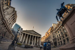 The Royal Stock Exchange, City of London, England stock images