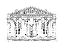 Royal Stock exchange, sketch Royalty Free Stock Photo