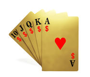 A royal straight flush Royalty Free Stock Photos