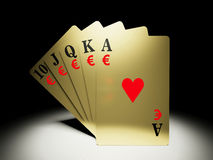A royal straight flush Royalty Free Stock Photography