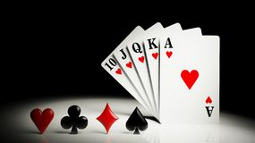 A royal straight flush Stock Images
