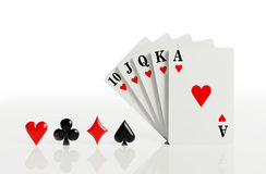 A royal straight flush Stock Photography