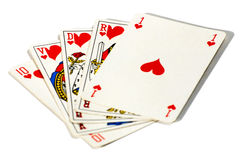 Royal straight flush Stock Image