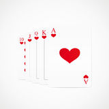 Royal straight flush playing cards Royalty Free Stock Photo