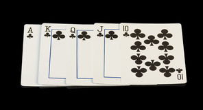 Royal straight flush Royalty Free Stock Image