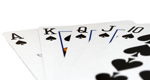 Royal Street. Poker card combination with white background Royalty Free Stock Image