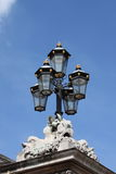Royal street lamp in Buckingham Palace Royalty Free Stock Photos