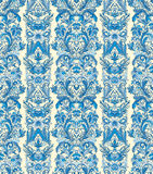 Royal striped seamless pattern. Rococo floral wallpaper. Damask background Stock Photos