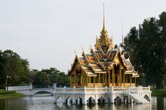 The Royal Summer Palace at Bang Pa In, Thailand Royalty Free Stock Image