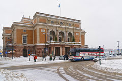 Royal Swedish Opera in winter Stockholm Royalty Free Stock Image