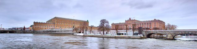 Castle and Parliament, Stockholm Stock Photography