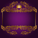 Royal symbols on a purple background Stock Image