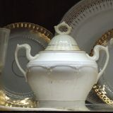 Royal crockery. These crockery was used by royal dynasty Stock Image