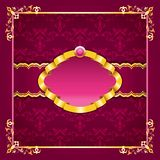 Royal template frame design for greeting card Royalty Free Stock Photography