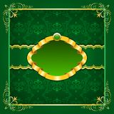 Royal template frame design for greeting card Royalty Free Stock Images