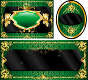 Royal Template Set Green Stock Images