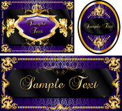 Royal Template Set Purple Stock Photography
