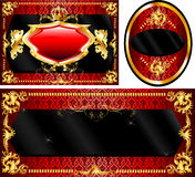 Royal Template Set Red Stock Photo