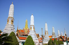 The royal temple. Pagoda and pavilion in the royal temple, grand temple in Bangkok, Thailand stock images