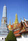 The royal temple. Pagoda in the royal temple, grand temple in Bangkok, Thailand stock image