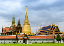 Royal Temple in Bangkok Royalty Free Stock Photography