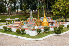 The royal temple of the emerald buddha in Mini Siam Park. Royalty Free Stock Photography