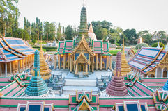The royal temple of the emerald budoha mini siam Royalty Free Stock Photos