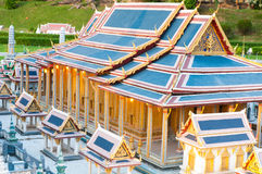 The royal temple of the emerald budoha mini siam Royalty Free Stock Photo