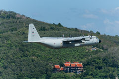 Royal thai air force  airplane depart at Phuket airport Stock Photo