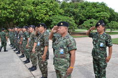 Royal  thai army Stock Photography
