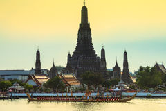Royal thai Barge at wat Arun Royalty Free Stock Photography