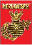 The logo of the Marine Corps. stock illustration