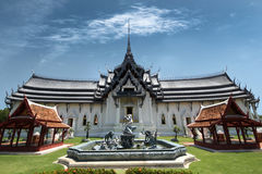 Royal Thai palace of Sanphet Prasart Palace at Muangboran. Stock Photo