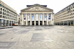 The Royal Theatre la Monnaie in Brussels in Belgium Royalty Free Stock Photos
