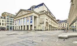 The Royal Theatre la Monnaie in Brussels in Belgium stock photos