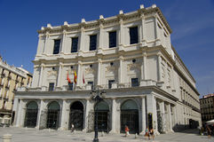 Royal theatre, Madrid. Royal theatre in Madrid Stock Photo