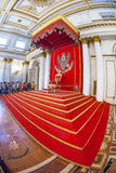 Royal throne in the George Great Throne Hall in the State Herm Stock Photography
