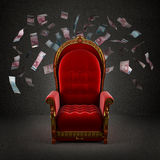 The royal throne in the room Royalty Free Stock Images