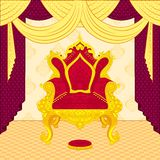 Royal Throne. Vector illustration of colorful royal throne stock illustration