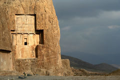 Royal Tomb. Near ancient Persepolis in Iran royalty free stock photo
