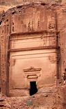 Royal Tomb in the lost rock city of Petra, Jordan. Royalty Free Stock Image
