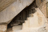 Royal Tomb, Machu Picchu,Peru. Detail of  the Royal Tomb, a natural rock cave believed to be the burial place of Inca Pachacutec. No mummies were ever found here Stock Photos