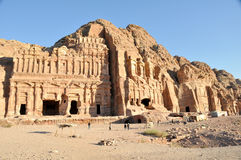 Royal tomb in Petra Stock Images