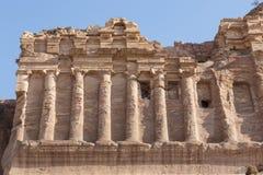 Royal Tombs in the ancient city of Petra, Jordan Royalty Free Stock Photo