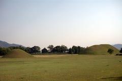 Royal tombs, Geongju, Korean Republic Royalty Free Stock Image