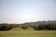 Royal tombs, Geongju, Korean Republic Stock Photography
